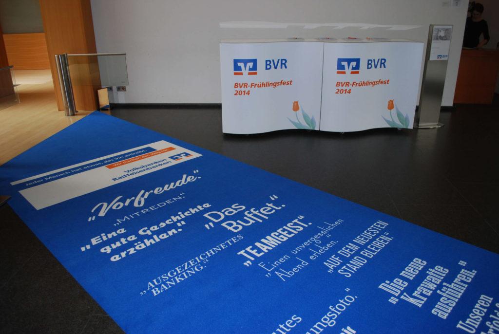 Ein Teppichdruck verwendet im Bereich Eventbranding.